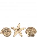 Wooden shells Ohana, 3 motifs, 12 pieces in a bag,